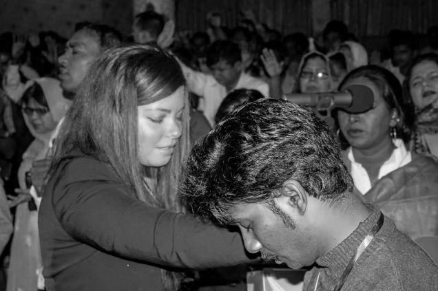 Sophie ministering in Dubai